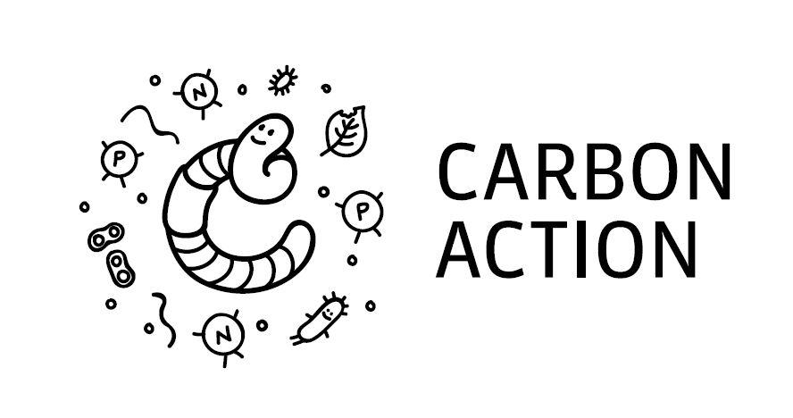 Carbon Action -hankkeen logo, Marttilan tila on mukana hankkeessa.